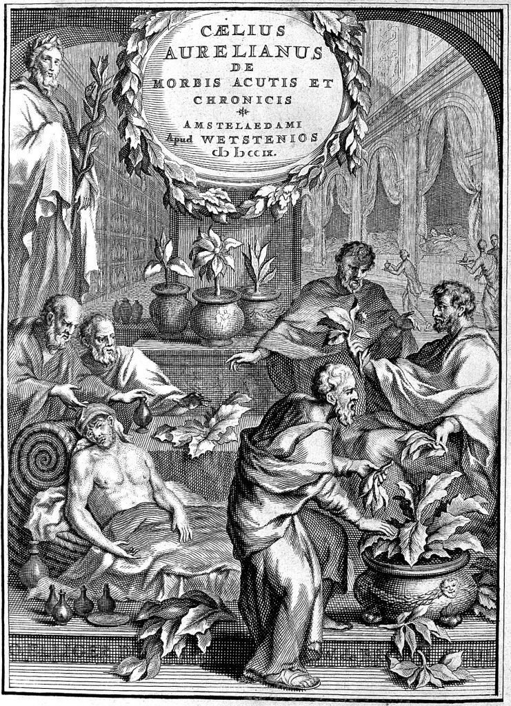 Caelius Aurelianus: herbs given to the sick. See page for author, CC BY 4.0, via Wikimedia Commons